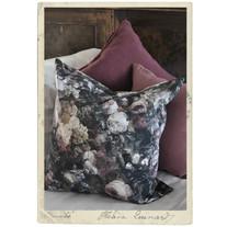 Pillow case, upholstry fabric w flower print, 60 x 60 cm