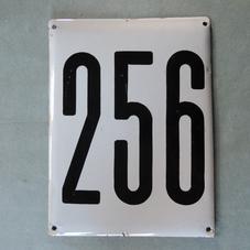 Iso vanha emalikyltti numero 256