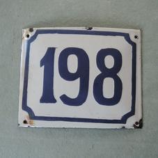 Vanha emalikyltti numero 198