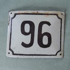 Vanha emalikyltti numero 96