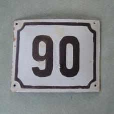 Vanha emalikyltti numero 90