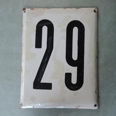 Iso vanha emalikyltti numero 29