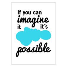 "Bild ""If you can imagine it"" A5"