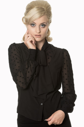 Banned Kiss Blouse Black