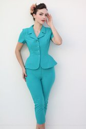 Daisy Dapper Collection Joline Pants Aqua