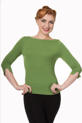 Banned Love top Green
