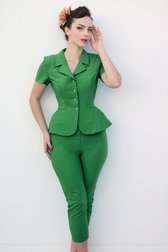 Daisy Dapper Collection Joline Pants Green