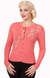 Banned FlowerCardigan Coral