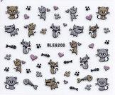 Nail stickers, blandad katter