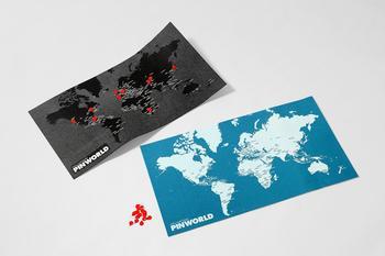 Palomar Pinworld map ,mini världskarta för väggen