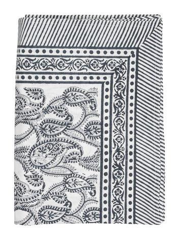 Chamois-Amrita duk PAISLEY blue,150x230 cm
