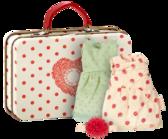 Maileg  - Micro, resväska,  2 plagg