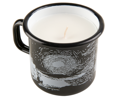 Candle in mug 3,7 dl, Sunset, black