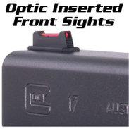 Glock Front Sights, FIBER OPTIC