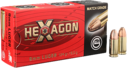 GECO 9x19 HEXAGON 124 Grain, 50 ptr