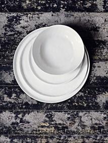 Salladstallrik 21 cm vit