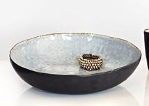 Salad bowl grey crackel