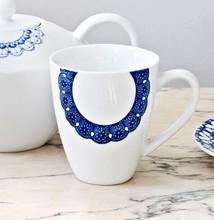 Tekopp vit/blå