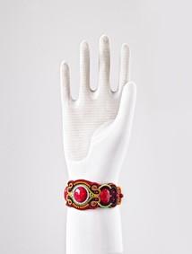 Armband rött bredare