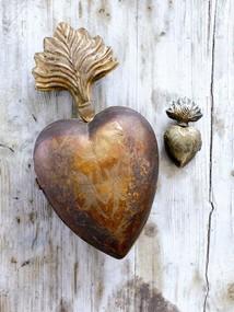 Litet dek.hjärta guld