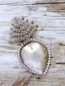 Silverhjärta stort