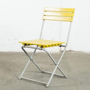 Trädgårds stol gul