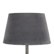 Lampskärm sammet mörkgrå liten