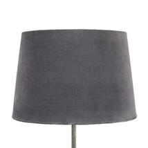 Lampskärm sammet mörkgrå stor