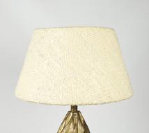 Lampskärm råsilk benvit 30x45x