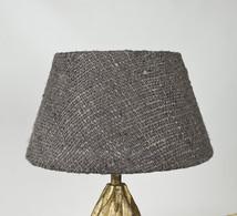 Lampskärm råsilk mörkgrå 30x45