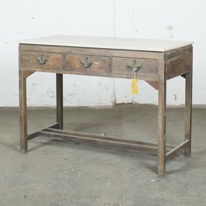 Skrivbord med marmortopp