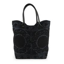 Väska broderad svart stor