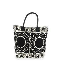Väska broderad svartvit liten
