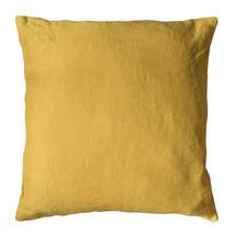 Kuddfodral linne 50x50 gul