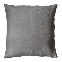 Kuddfodral linne 50x50 grå