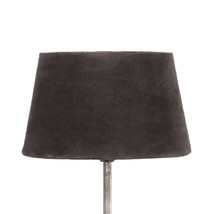 Lampskärm sammet brun liten