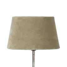 Lampskärm sammet olivgrön liten