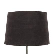 Lampskärm sammet brun stor