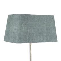 Lampskärm silke blågrå