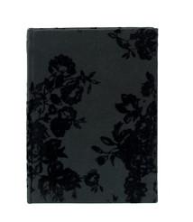 Notebook 20x15 svart stor blom