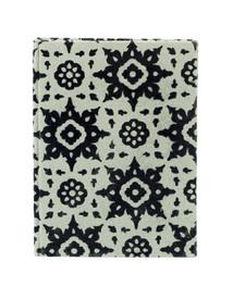Notebook 20x15 grå blomma