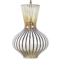Ceiling lamp glass striped