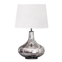 Bordslampa zinkfärg glas 44 cm