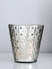 Ljuskopp 13 cm ant silver