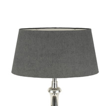 Lampshade jute oval grey