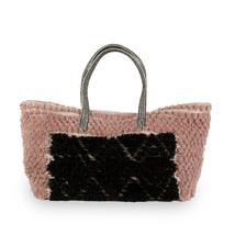 Väska rosa/svart ull