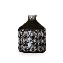 Vase/bottle ceramic black 19 cm