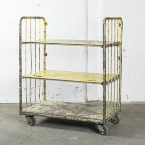 Vagn m hjul gul