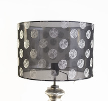 Lampshade cylinder blk/silver