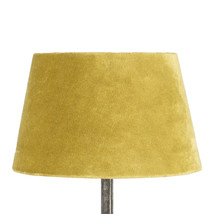 Lampskärm sammet gul liten